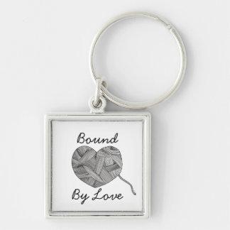 Yarn Ball Heart Illustration Key Ring