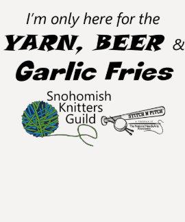 Yarn, Beer Garlic Fries Stitch 'n Pitch Tee Shirt