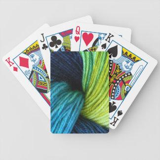 Yarn print, knitting, crochet bicycle playing cards