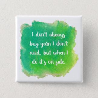 Yarn Sale Joke 15 Cm Square Badge
