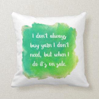Yarn Sale Joke Cushion