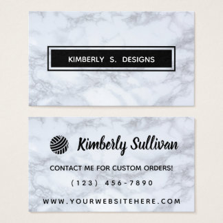 Yarn Shop • Handmade Crafts Marble Texture Business Card