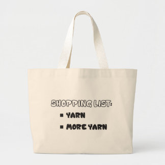 Yarn Shopping List Large Tote Bag