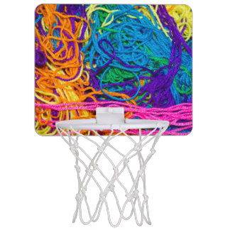 Yarn Tangles Photo Mini Basketball Hoop
