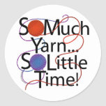 Yarn Time Classic Round Sticker