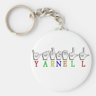 YARNELL ASL NAME SIGN FINGERSPELLED KEY RING
