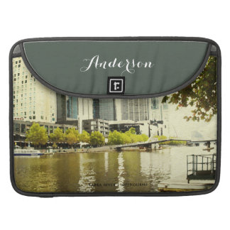YARRA RIVER MELBOURNE PAINTING LEATHER MONOGRAM SLEEVE FOR MacBooks
