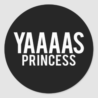Yas Princess White Print Stickers