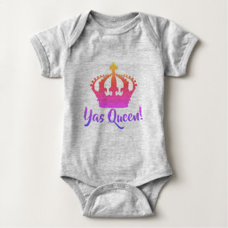 Yas Queen!  Rainbow color Baby style Baby Bodysuit