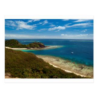 yasawa islands fiji postcard