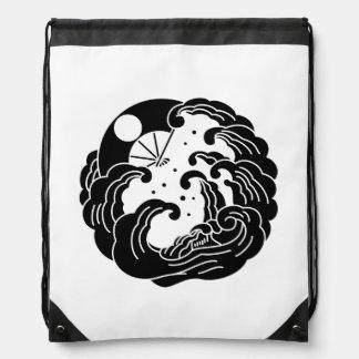 Yashima fan drawstring bag