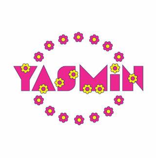 Yasmin in Flores Pink Standing Photo Sculpture