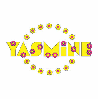 Yasmine in Flores Yellow Photo Cutouts
