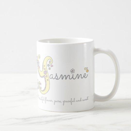 Yasmine name meaning decorative Y monogram mug