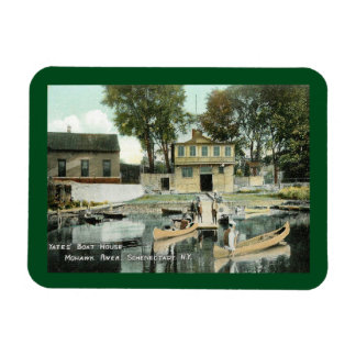 Yates Boat House, Schenectady, NY Vintage Rectangular Photo Magnet