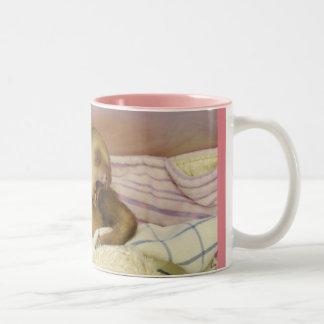 Yawning Baby Sloth Wake Up Two-Tone Coffee Mug