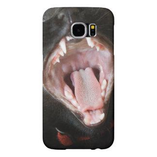 Yawning Black Cat Samsung Galaxy S6 Case Samsung Galaxy S6 Cases