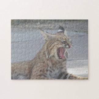 Yawning Bobcat Jigsaw Puzzle