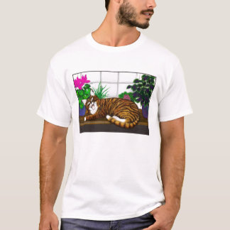 Yawning Cat T Shirt
