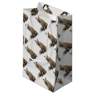 yawning fox wrapping paper, woodland gift wrap small gift bag