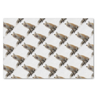 yawning fox wrapping paper, woodland gift wrap tissue paper