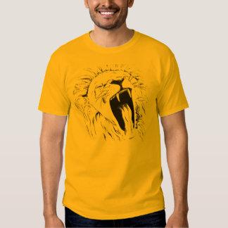 Yawning lion tee shirts