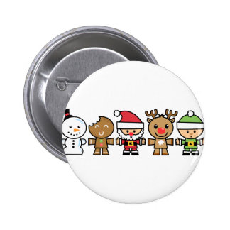 Yay For Color Five Xmas Characters Pins