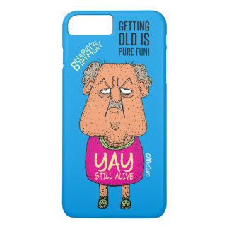 Yay, Still Alive - Grumpy old man blue cartoon iPhone 7 Plus Case