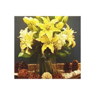 YazieDior & Co golden flower canvas