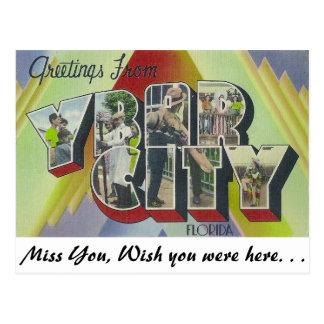Ybor City, Florida Postcard