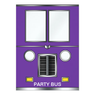 Ye Old Bus (Customizable color) 14 Cm X 19 Cm Invitation Card