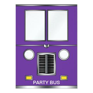 Ye Old Bus (Customizable color) 14 Cm X 19 Cm Invitation Card