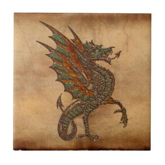 Ye Old Mediaeval Dragon Design Tile
