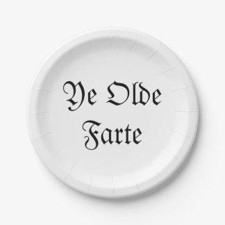 Ye Olde Farte Paper Plate