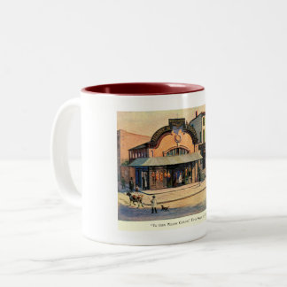 Ye Olde Willow Cottage, Fifth Ave, NYC Vintage Two-Tone Coffee Mug