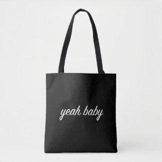 yeah baby tote bag grunge tumblr aesthetic