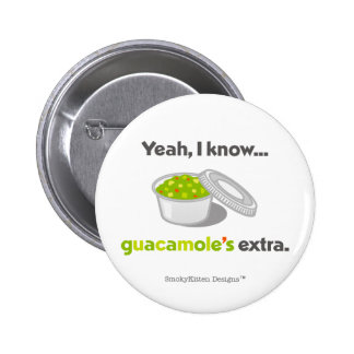 Yeah I Know Guacamole is Extra (Cup of Guacamole) 6 Cm Round Badge
