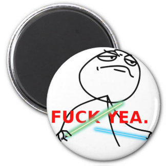 Yeah Jedi meme 6 Cm Round Magnet