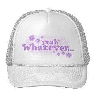 yeah whatever... purple hat / cap