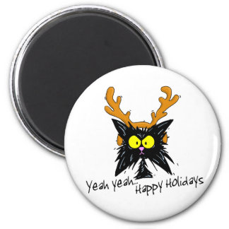 Yeah Yeah Happy Holidays Refrigerator Magnet