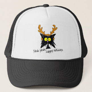 """Yeah Yeah... Happy Holidays"" Trucker Hat"