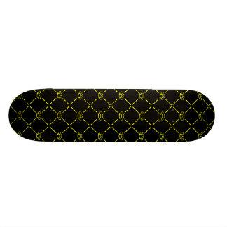 yealow death custom skateboard