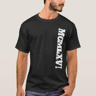 Year 1966 in Roman Numerals Grunge Style T-Shirt
