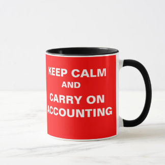 Year End... KEEP CALM AND CARRY ON ACCOUNTING Mug