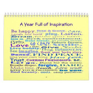 year full of inspiration calendar