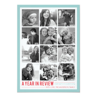 Year in Review 12 Photo Collage Holiday Photocard Card