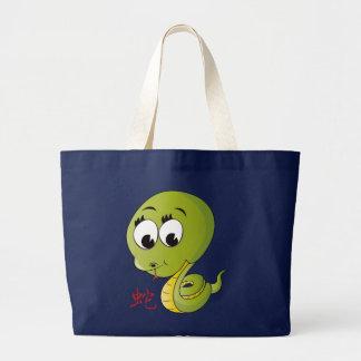 Year of Snake Jumbo Tote Canvas Bag