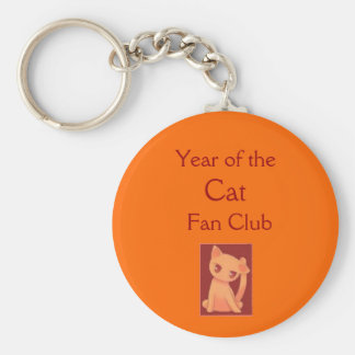 Year of the Cat Fan Club Basic Round Button Key Ring