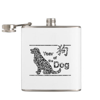 Year of the Dog - Chinese New Year Hip Flask