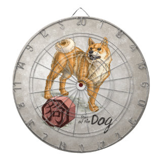 Year of the Dog Chinese Zodiac Art Dartboard